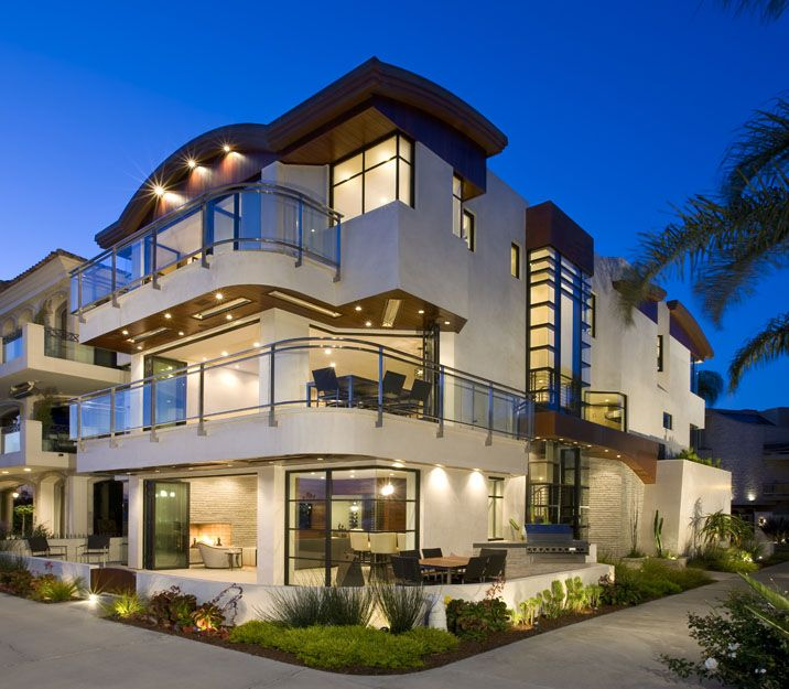 Thiết kế biệt thự 3 tầng phối hợp ánh sáng đẹp-min