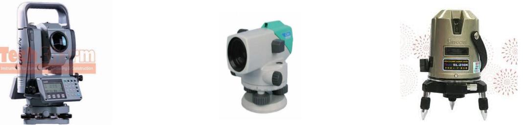 Một số máy đo độ cao sàn nhà được sử dụng trong quy trình thi công chuẩn
