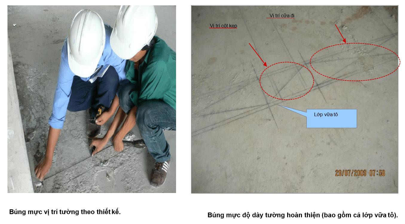Công tác trác đạc trong quy trình thi công chuẩn
