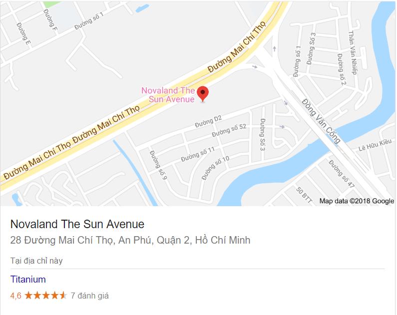 Bản đồ dự án khu căn hộ The Sun Revenue