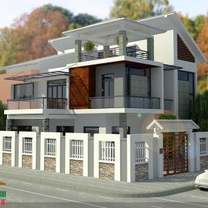 Mẫu thiết kế biệt thự hiện đại (1)