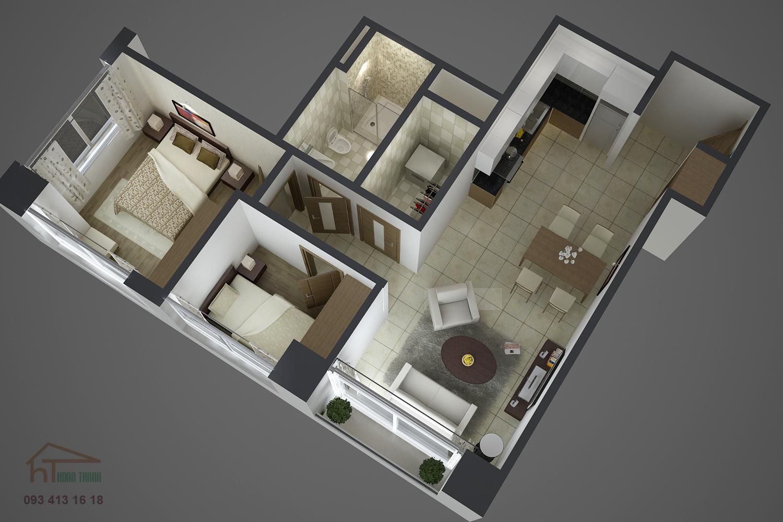 Mẫu thiết kế căn hộ Phú An Khánh