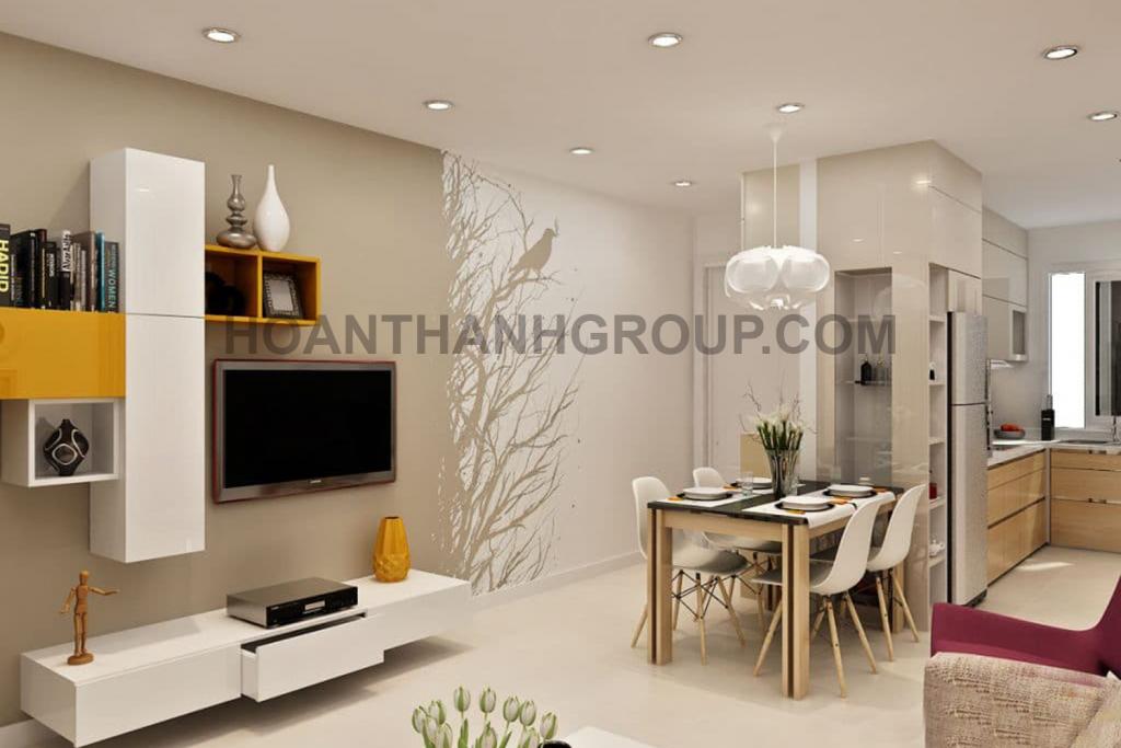 Mẫu thiết kế nội thất căn hộ chung cư kiểu Mỹ
