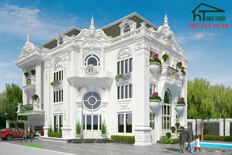 Mẫu thiết kế biệt thự cổ điển (2)