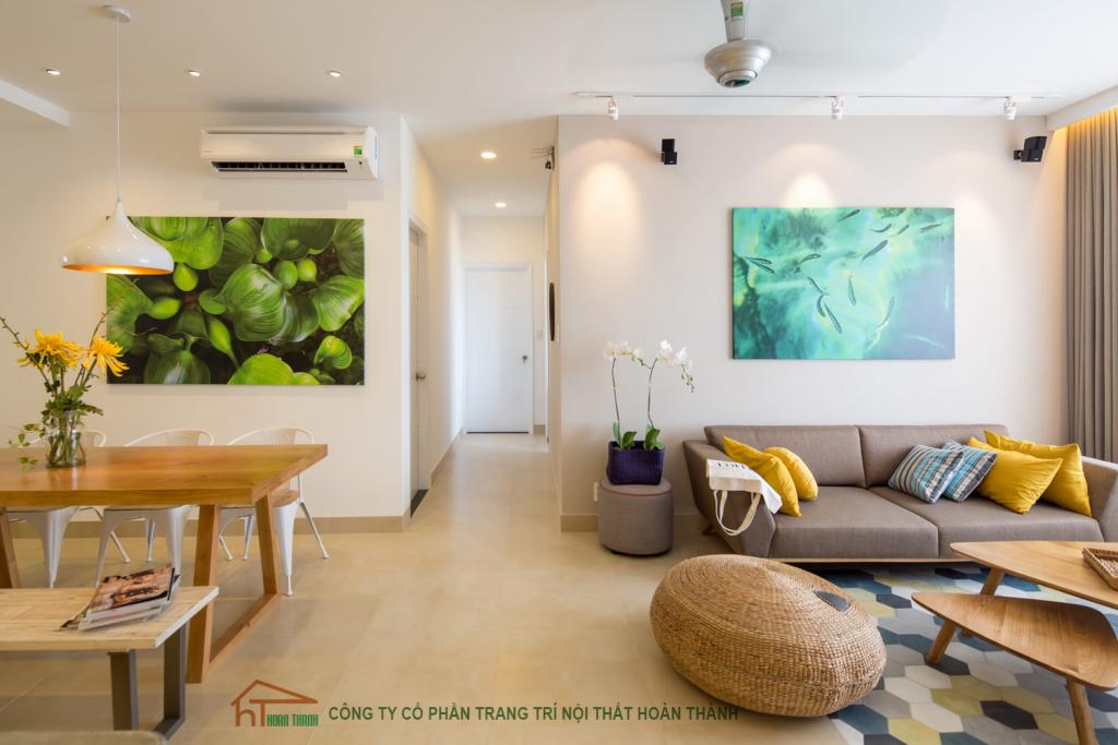 Thiết kế nội thất phòng khách căn hộ chung cư hiện đại