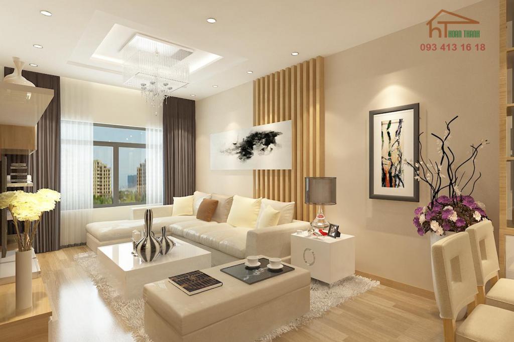 Thiết kế nội thất phòng khách căn hộ chung cư phong cách hiện đại