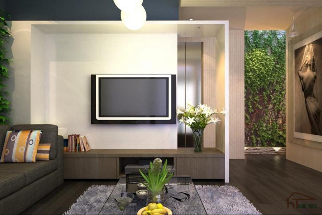 Mẫu thiết kế nội thất phòng khách nhà phố hiện đại
