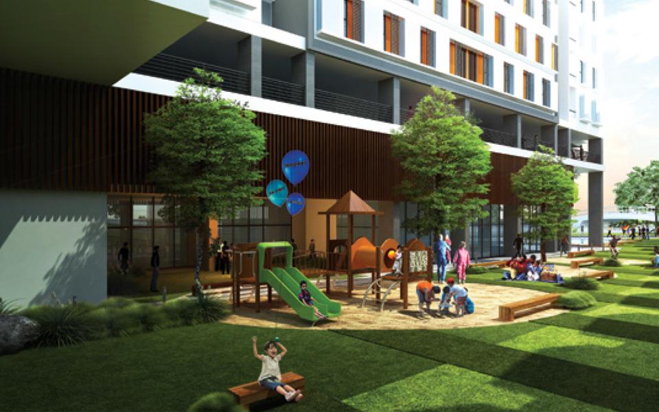 Sân chơi cho trẻ trong dự án La Astoria