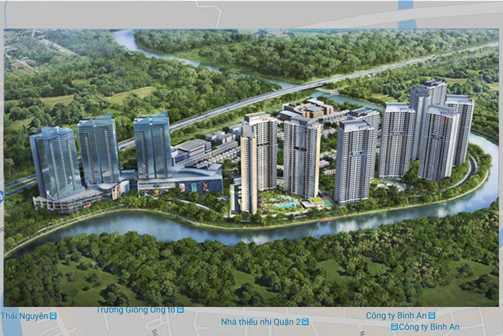 Bản mô hình dự án căn hộ cao cấp Palm City quận 2