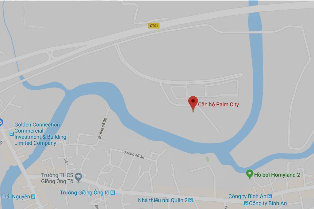 Bản đồ dự án căn hộ Palm City quận 2
