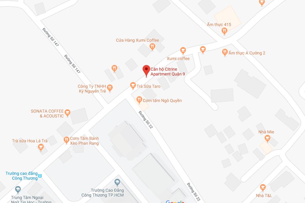 Bản đồ dự án Citrine quận 9