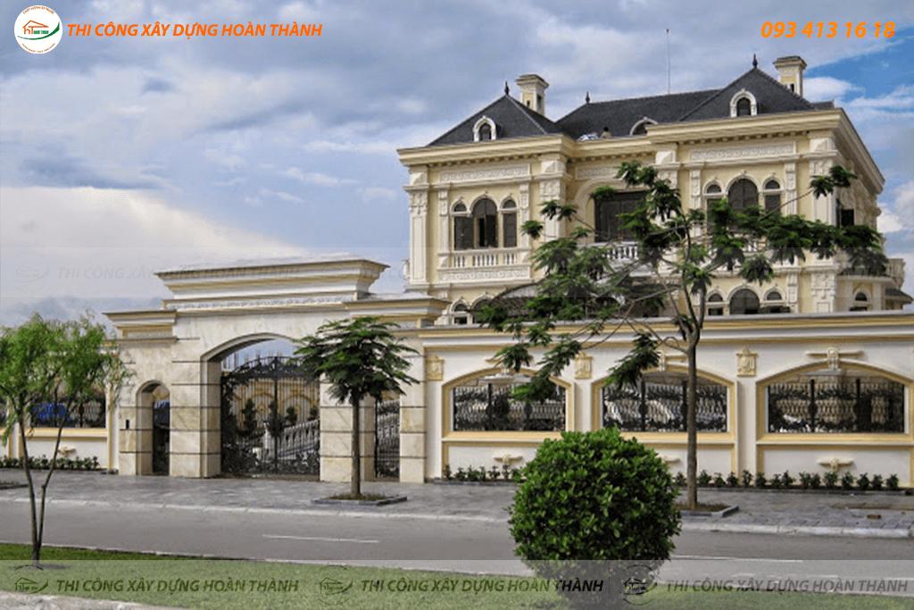 Bản vẽ phối cảnh biệt thự cổ điển phong cách châu Âu 10