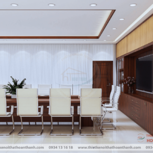 thiết kế nội thất phòng họp công ty